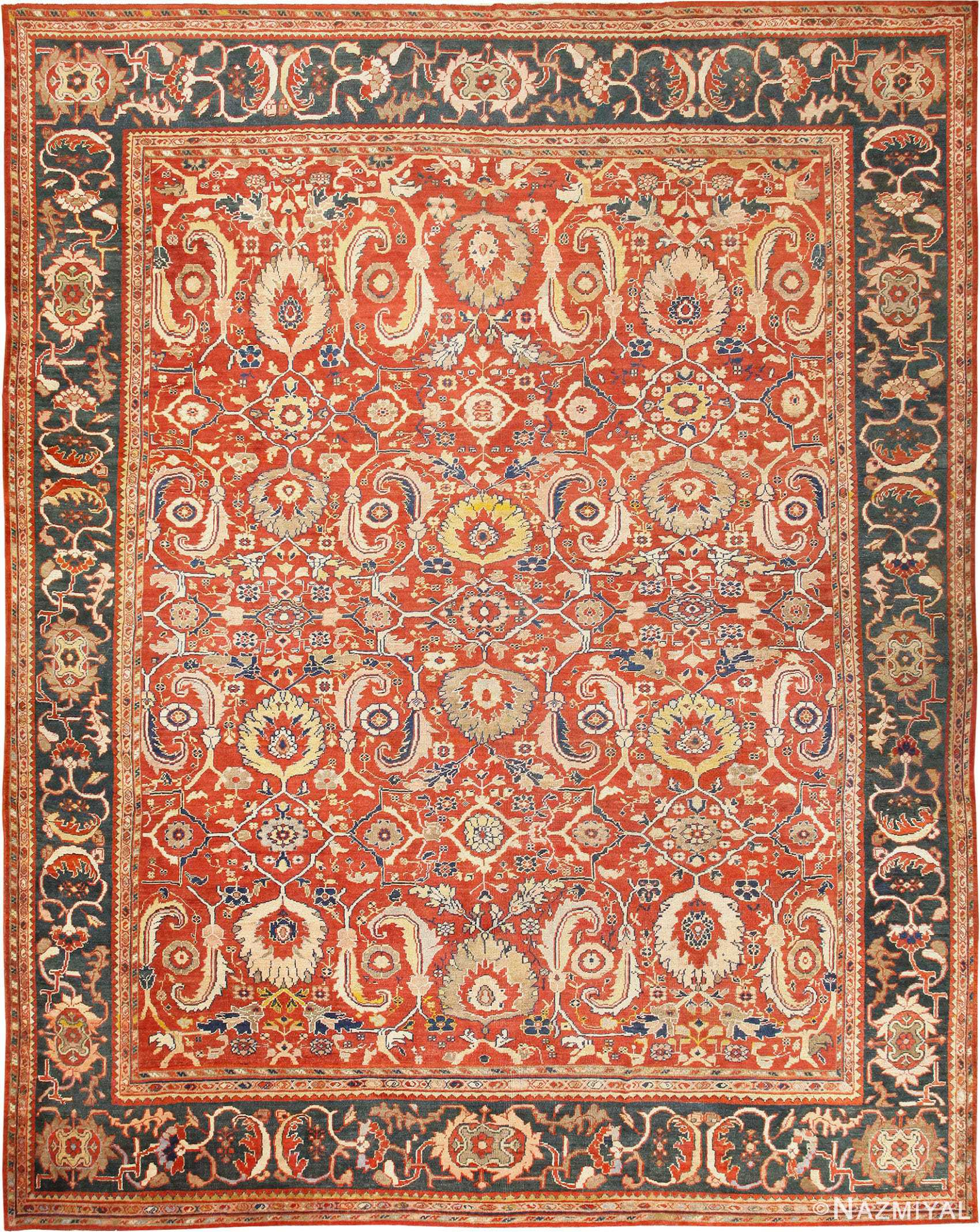 Large Scale All Over Design Persian Sultanabad Antique Rug 50708 Nazmiyal