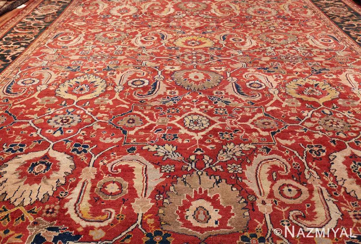 large scale all over design persian sultanabad antique rug 50708 field Nazmiyal
