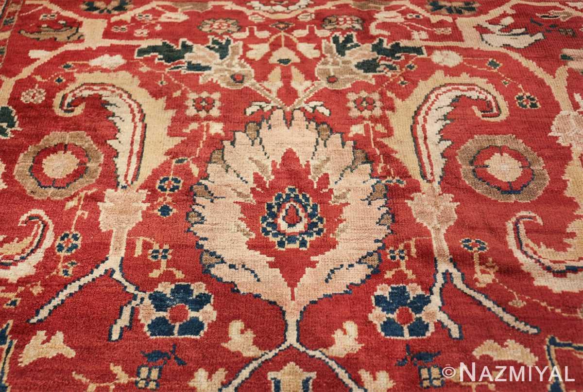 large scale all over design persian sultanabad antique rug 50708 leaf Nazmiyal
