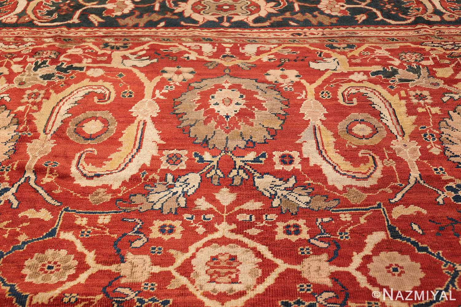 large scale all over design persian sultanabad antique rug 50708 top Nazmiyal