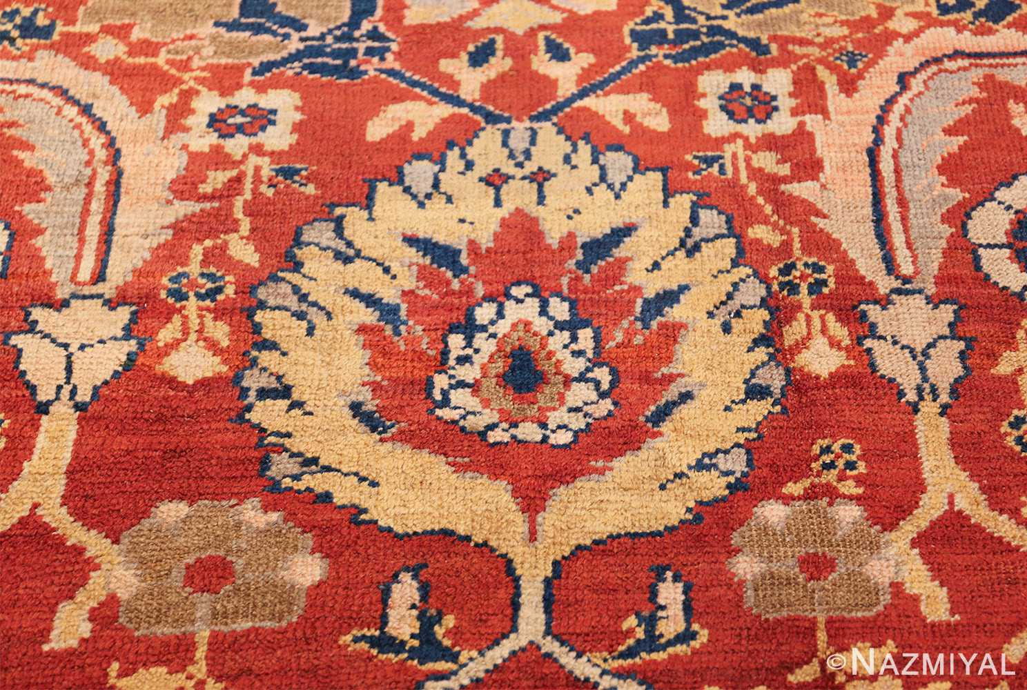 large scale all over design persian sultanabad antique rug 50708 yellow Nazmiyal
