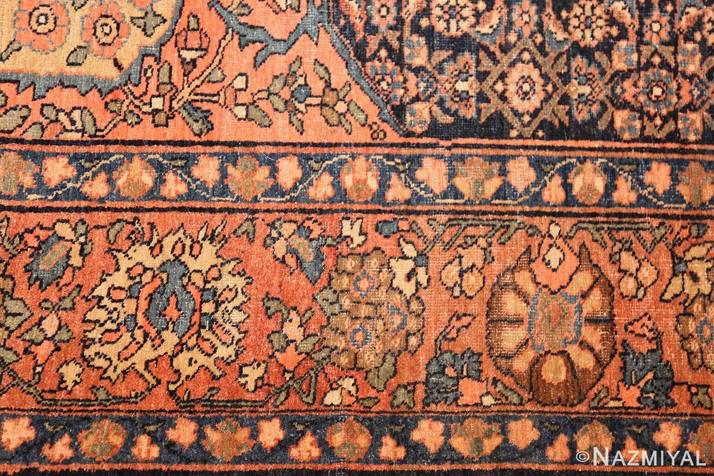 small scatter size antique persian sarouk farahan rug 50686 border Nazmiyal