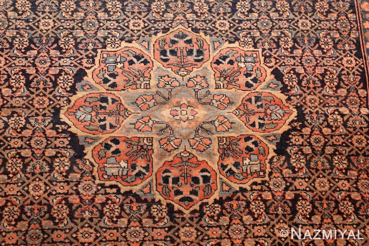 small scatter size antique persian sarouk farahan rug 50686 medallion Nazmiyal