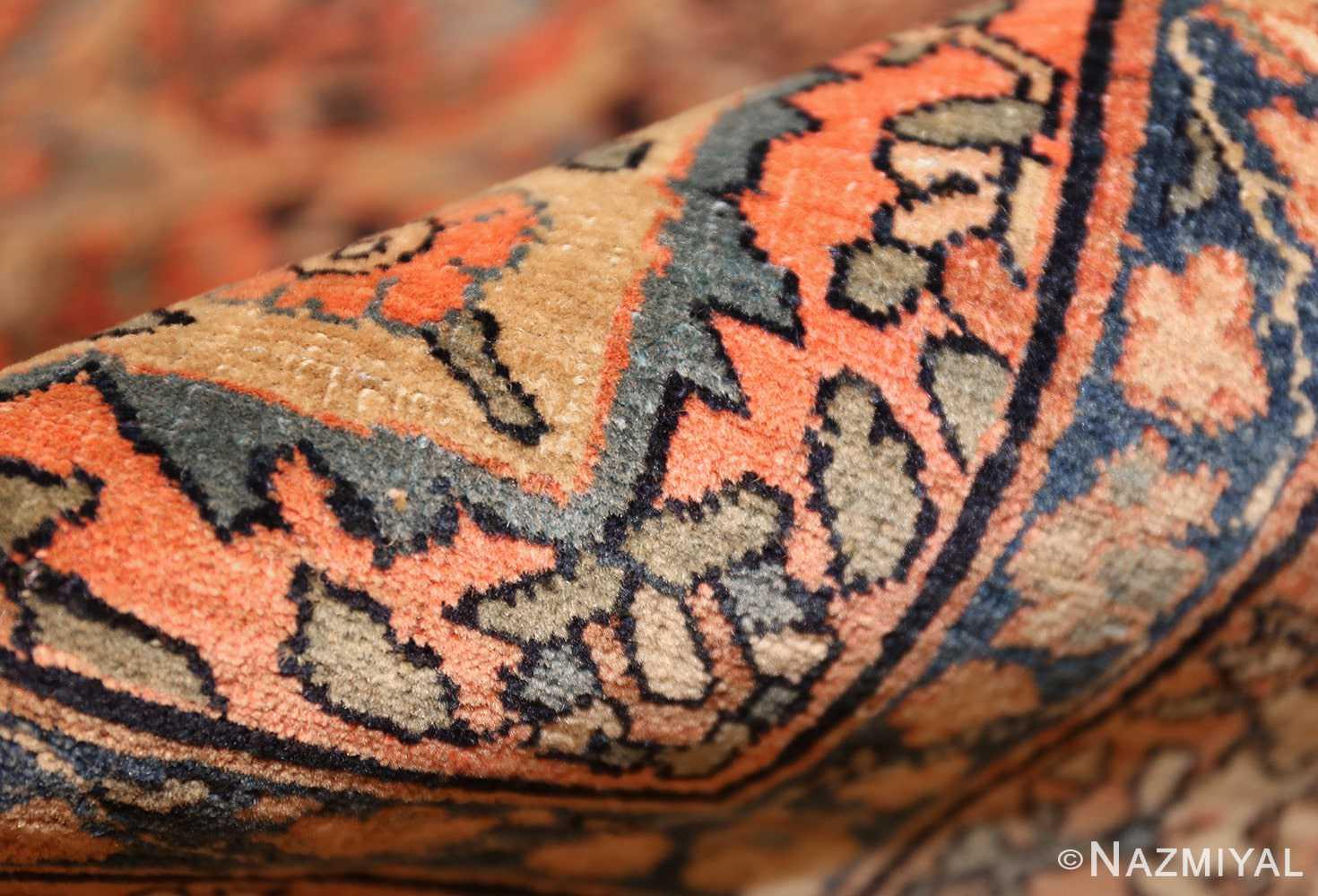 small scatter size antique persian sarouk farahan rug 50686 pile Nazmiyal