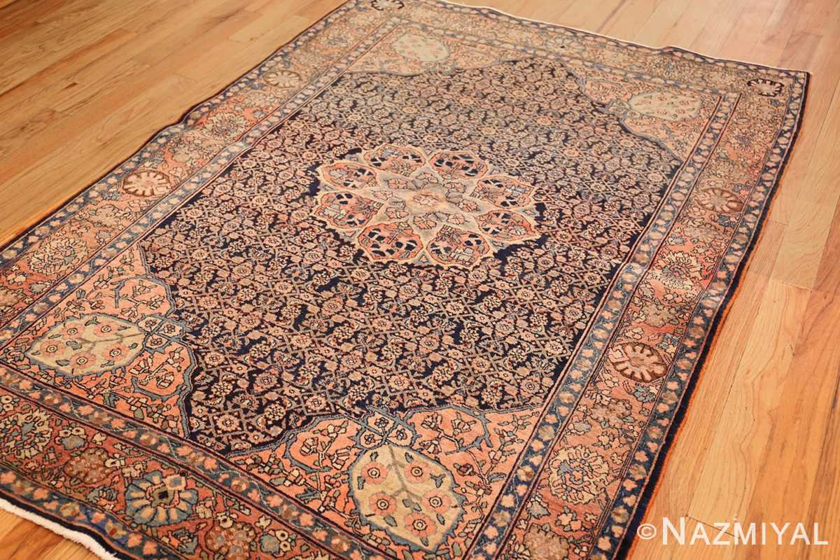 small scatter size antique persian sarouk farahan rug 50686 side Nazmiyal