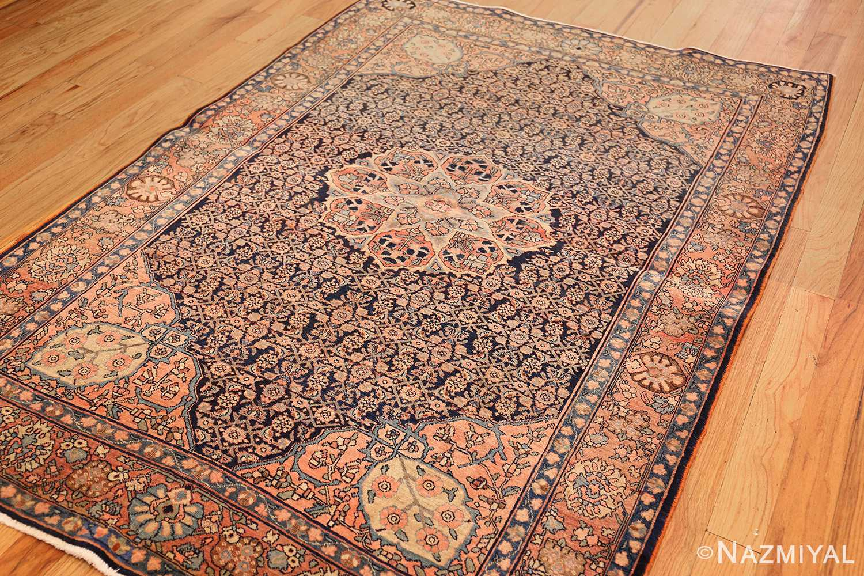 small scatter size antique persian sarouk farahan rug 50686 side Nazmiyal