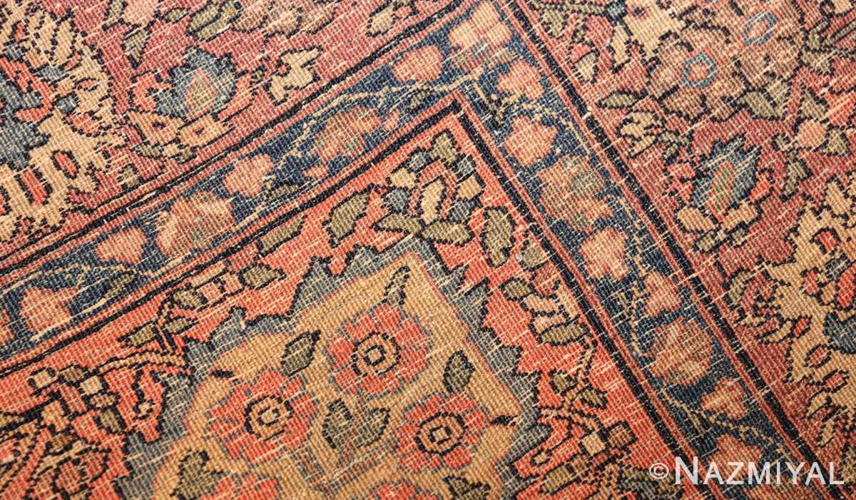 small scatter size antique persian sarouk farahan rug 50686 weave Nazmiyal