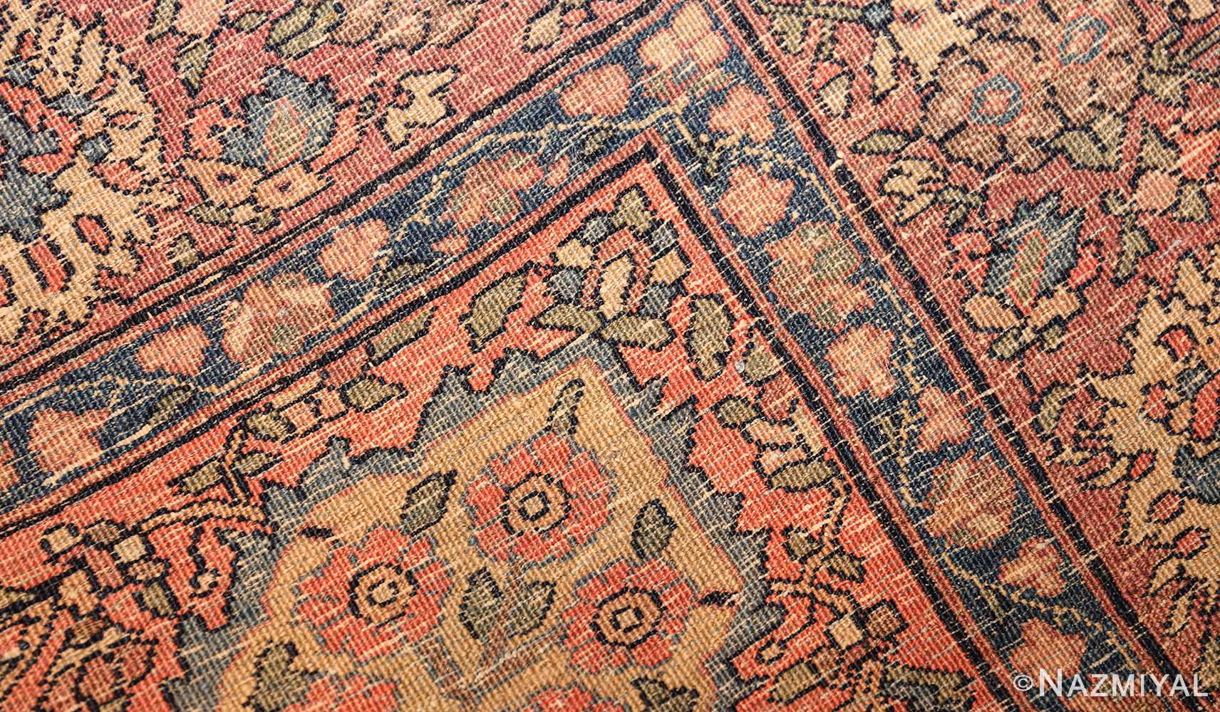 small scatter size antique persian sarouk farahan rug 50686 weave Nazmiyal