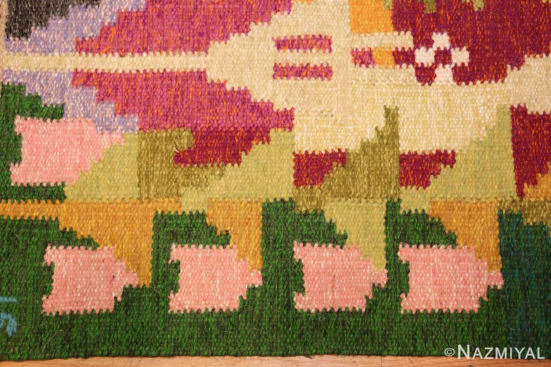 small vintage swedish scandinavian kilim rug by ingegerd silow 48989 border Nazmiyal