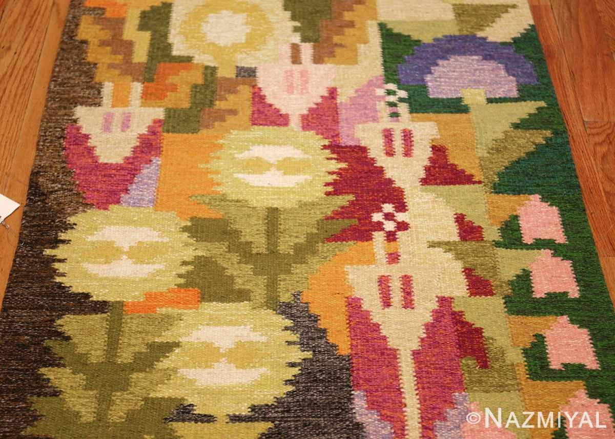small vintage swedish scandinavian kilim rug by ingegerd silow 48989 field Nazmiyal