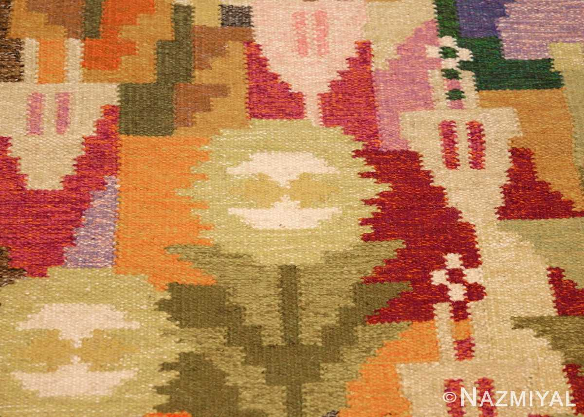 small vintage swedish scandinavian kilim rug by ingegerd silow 48989 flower Nazmiyal