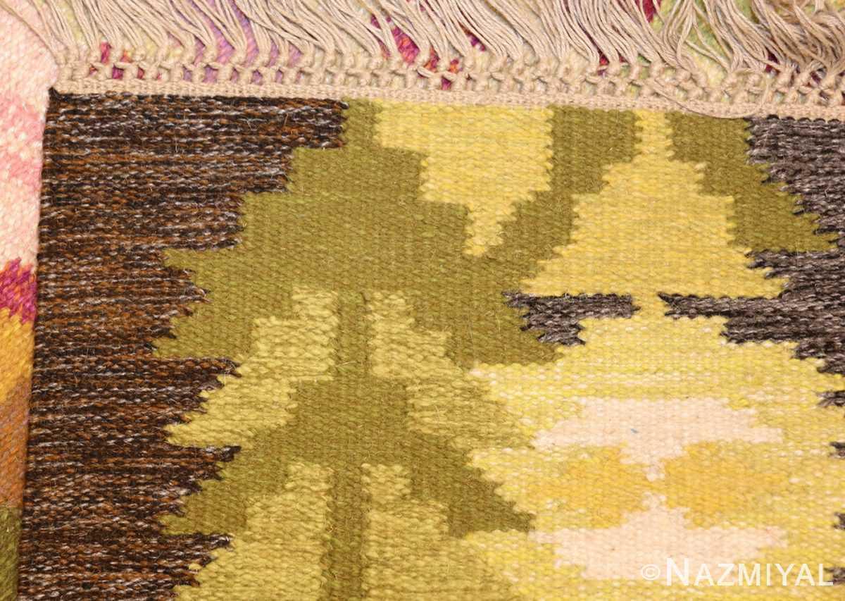 small vintage swedish scandinavian kilim rug by ingegerd silow 48989 weave Nazmiyal