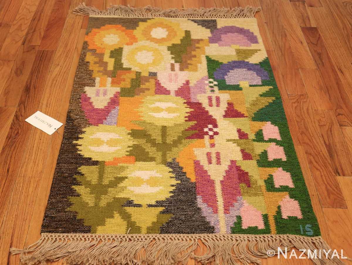 small vintage swedish scandinavian kilim rug by ingegerd silow 48989 whole Nazmiyal