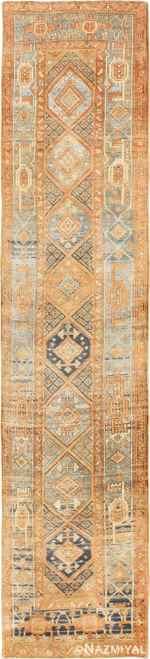 Tribal Antique Persian Heriz Serapi Runner Rug 48994 Nazmiyal