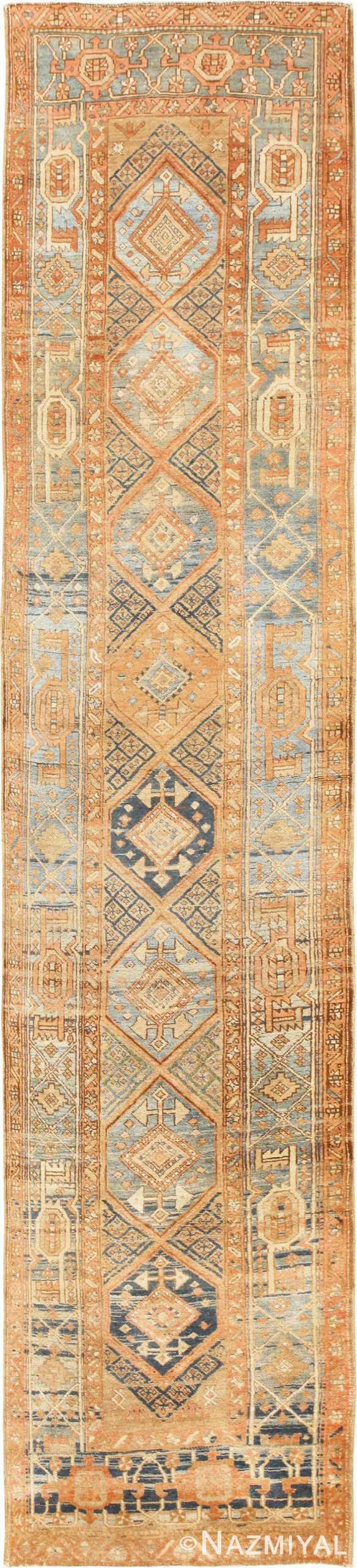 Tribal Antique Persian Heriz Serapi Runner Rug 48994 Nazmiyal