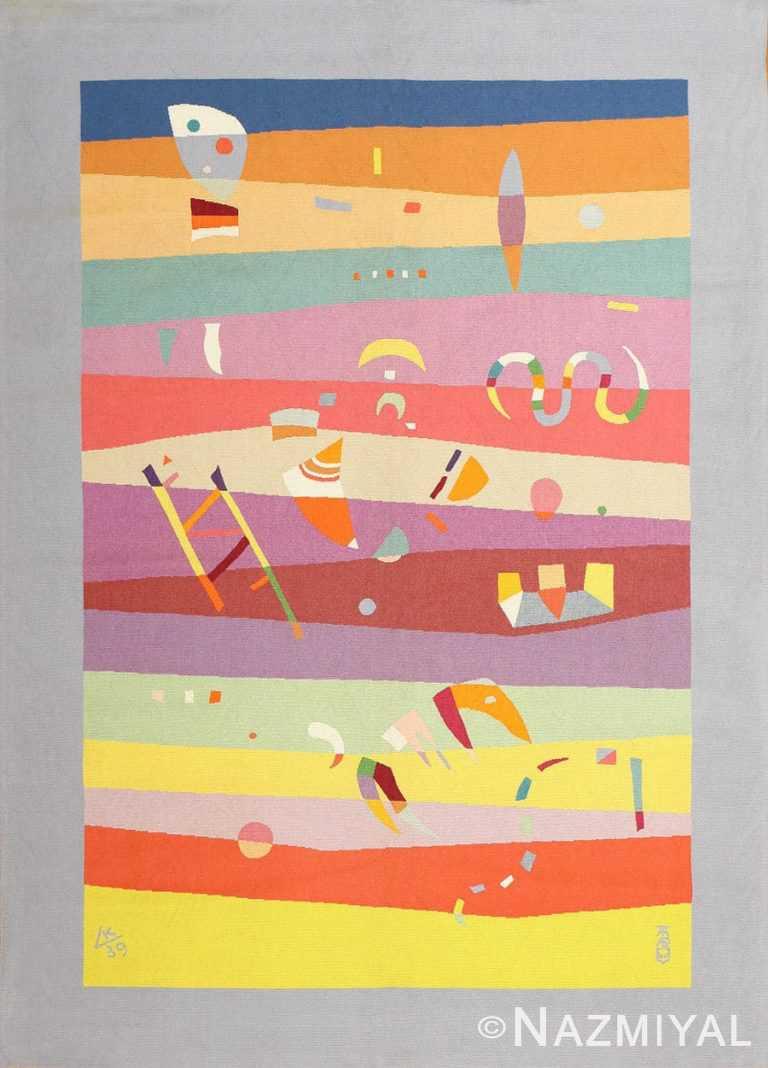 Vintage Deco French Bauhaus Rug By Wassily Kandinsky 41278 Nazmiyal