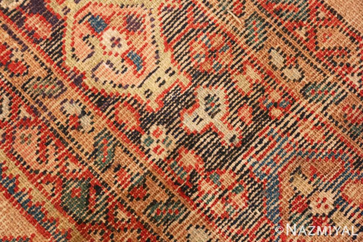Weave detail amel background Persian Sultanabad Antique rug 50660 by Nazmiyal
