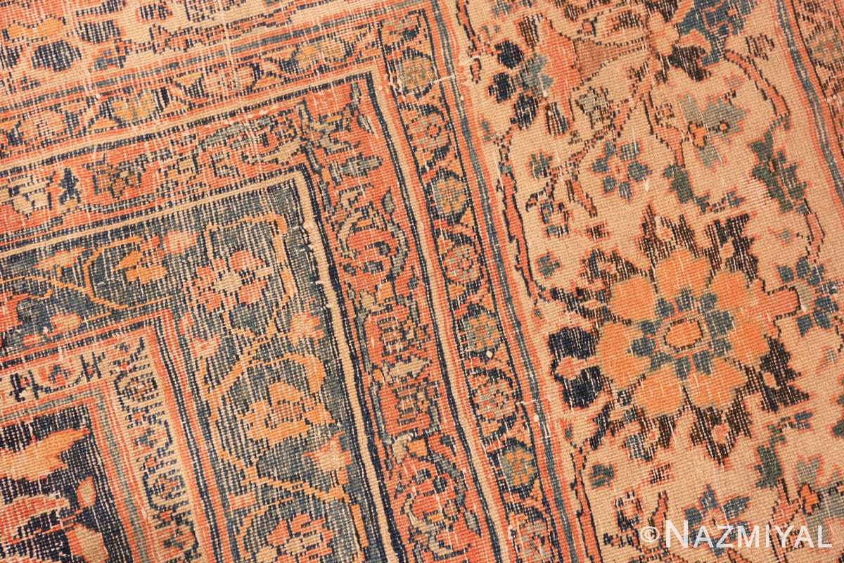 Weave detail Antique Room size Persian Tabriz rug 50547 by Nazmiyal