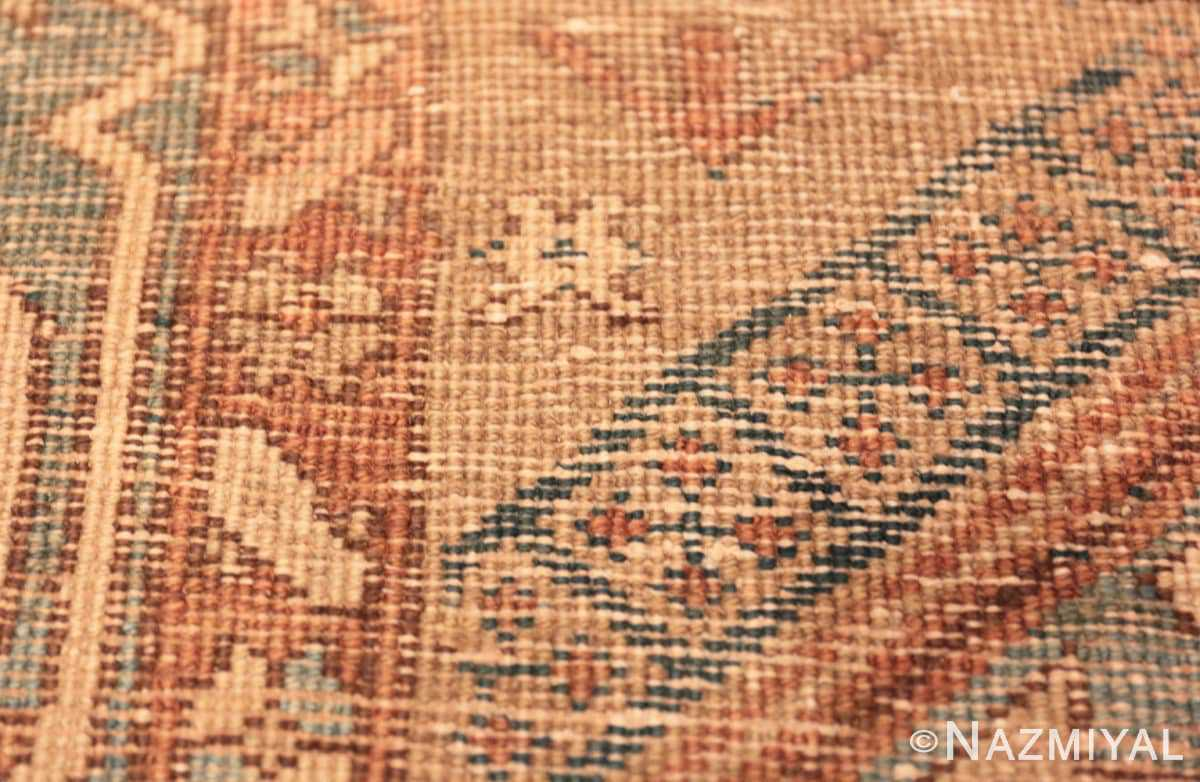 Weave detail Tribal Antique Persian Heriz Serapi runner rug 48994 by Nazmiyal