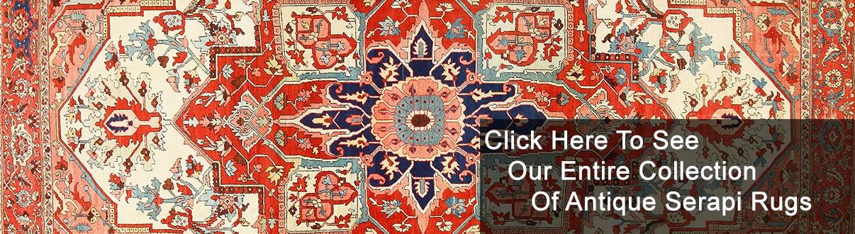 Antique Persian Serapi Rugs and Carpets by Nazmiyal