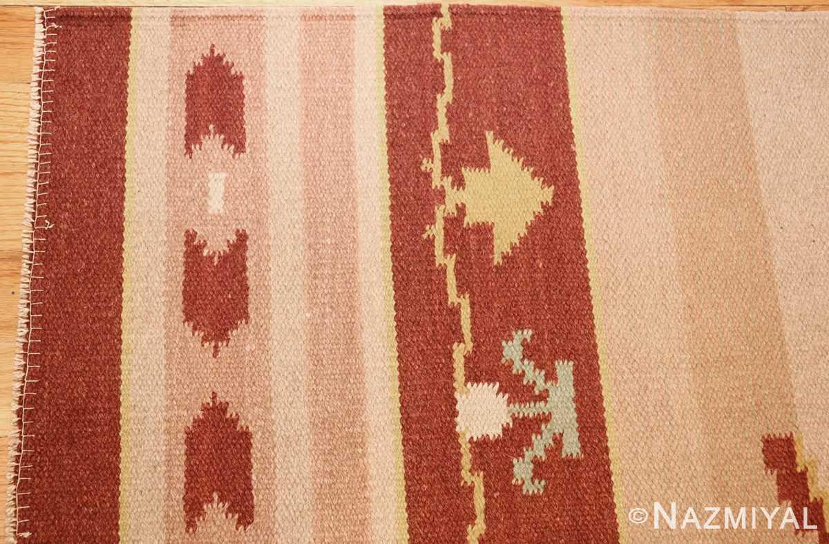 antique swedish rug 42020 corner Nazmiyal