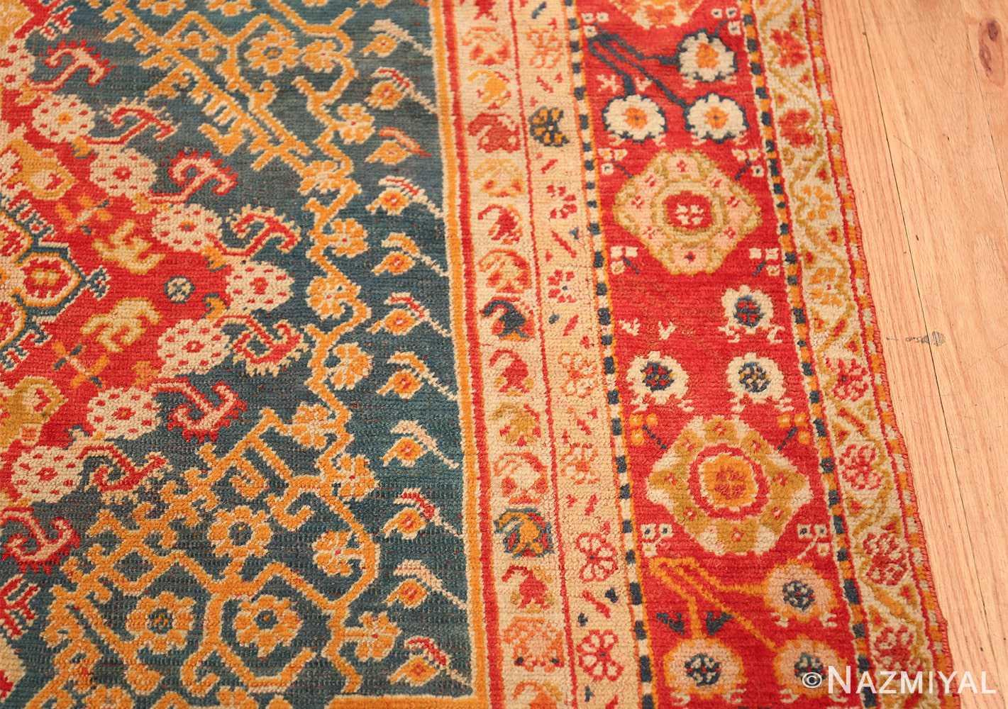 Antique Turkish Oushak Rug 50710 Border Design Nazmiyal