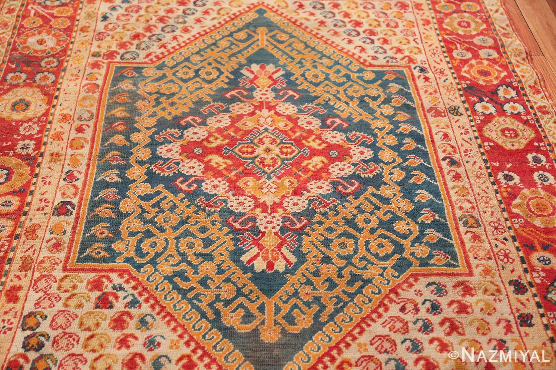 Antique Turkish Oushak Rug 50710 Field Design Nazmiyal