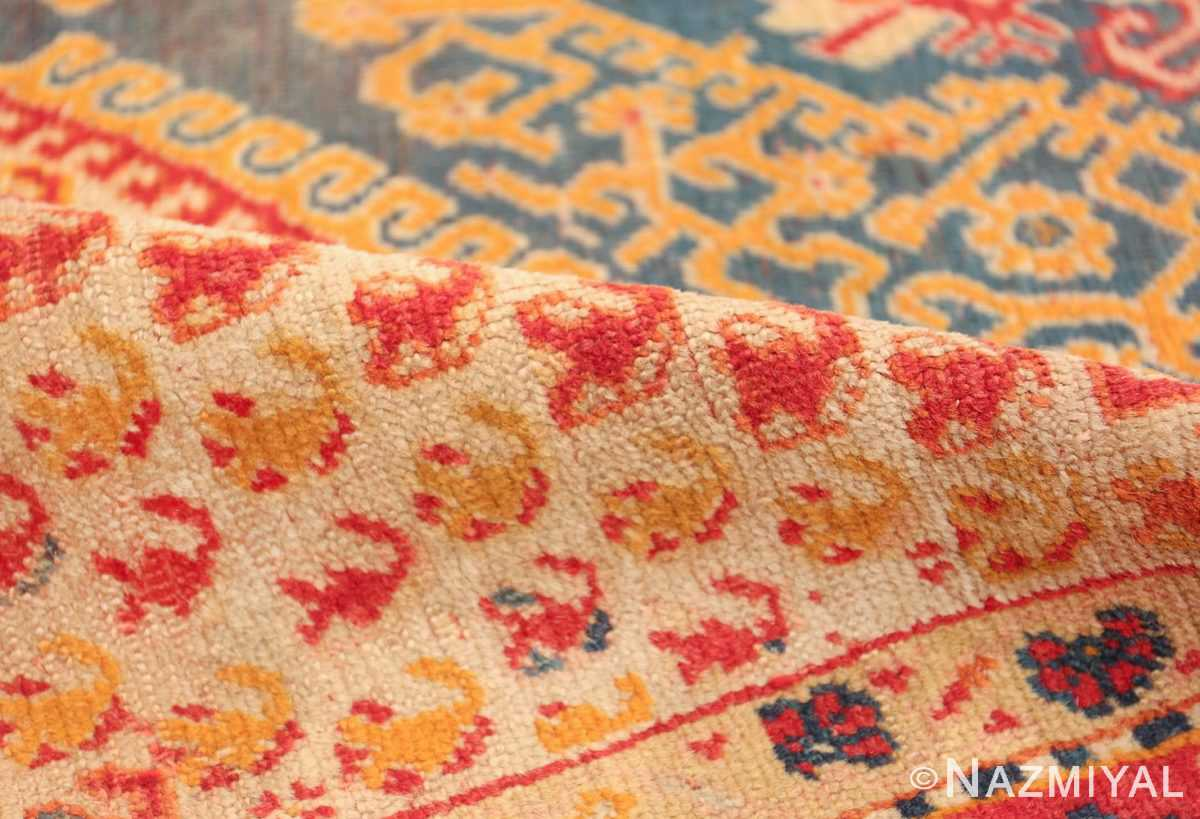 Antique Turkish Oushak Rug 50710 Floral Pile Nazmiyal