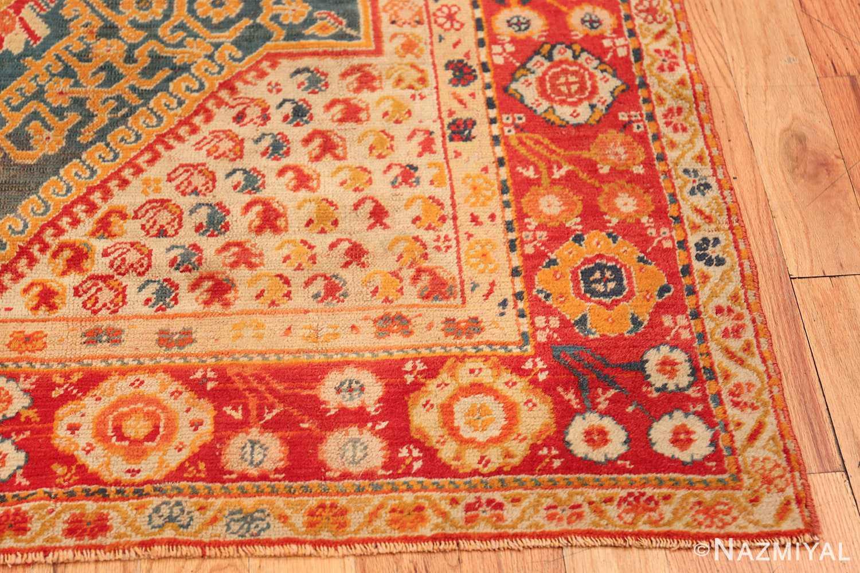 Antique Turkish Oushak Rug 50710 Side Corner Nazmiyal