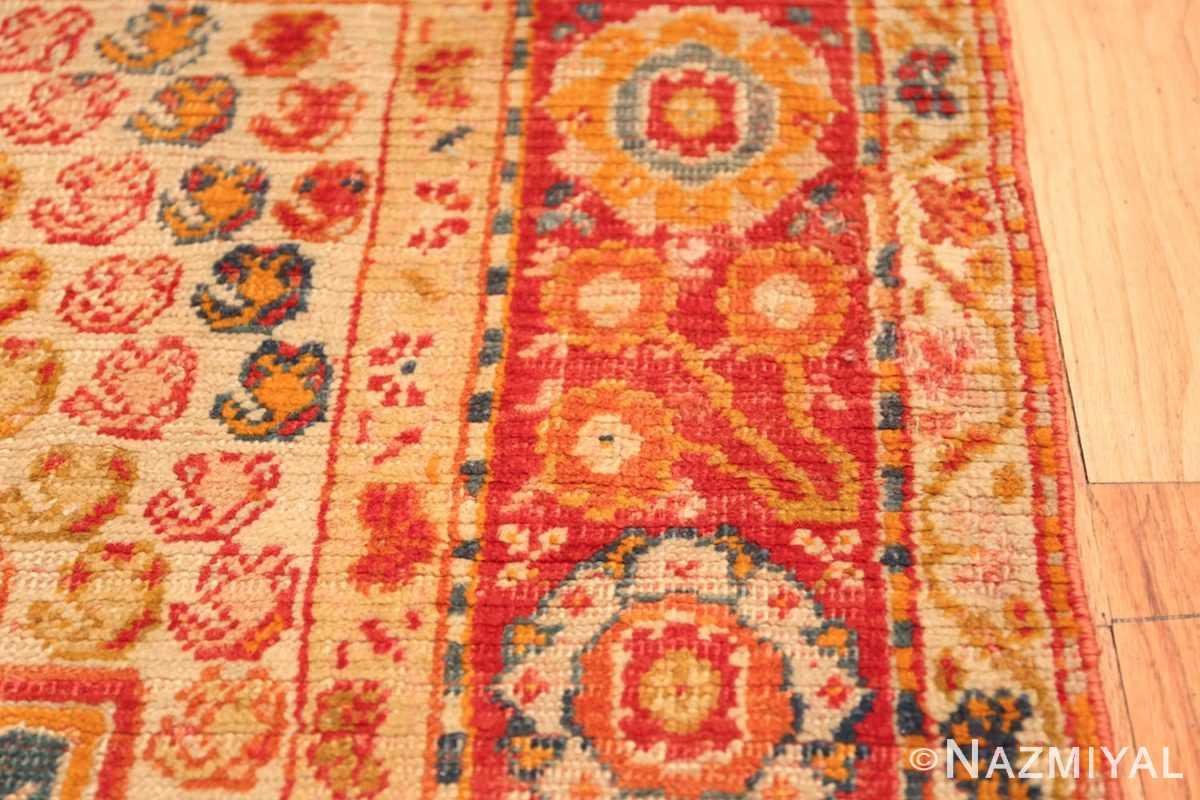 Antique Turkish Oushak Rug 50710 Texture Closeup Nazmiyal
