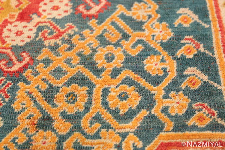 Antique Turkish Oushak Rug 50710 Tiny Field Flowers Nazmiyal