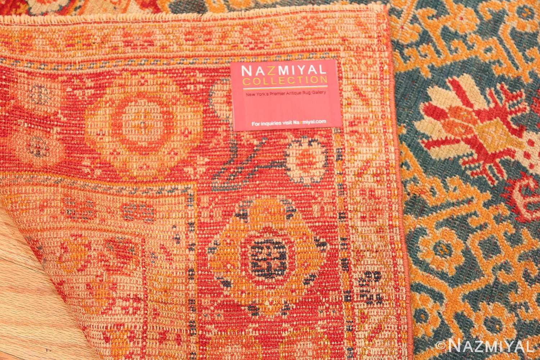 Antique Turkish Oushak Rug 50710 Woven Knots Nazmiyal