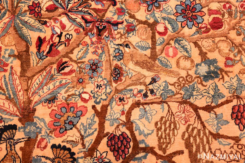 beautiful antique persian kerman rug by master aboul ghasem kermani 49006 bird Nazmiyal