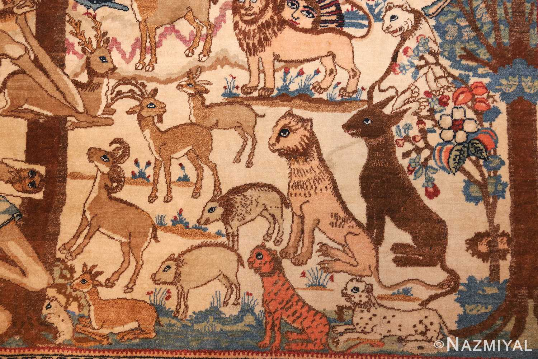 beautiful antique persian kerman rug by master aboul ghasem kermani 49006 boar Nazmiyal