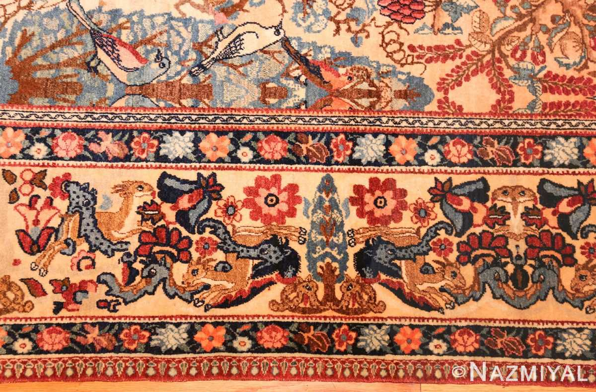 beautiful antique persian kerman rug by master aboul ghasem kermani 49006 border Nazmiyal