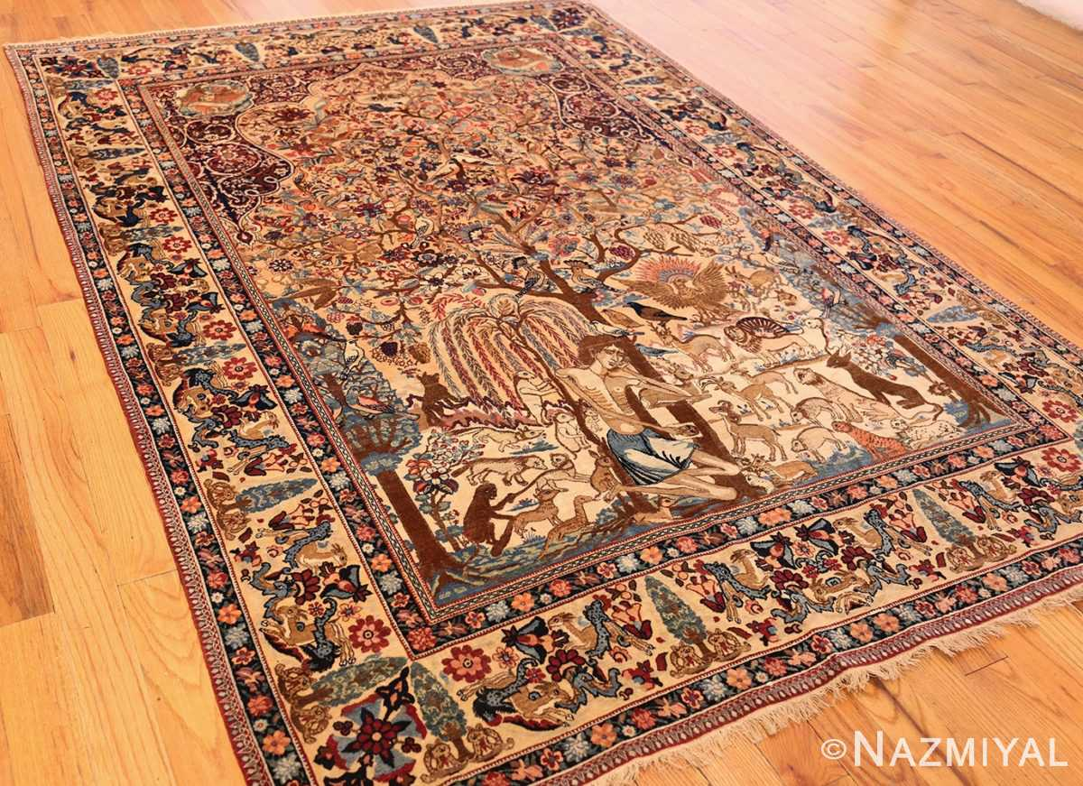 beautiful antique persian kerman rug by master aboul ghasem kermani 49006 darkside Nazmiyal