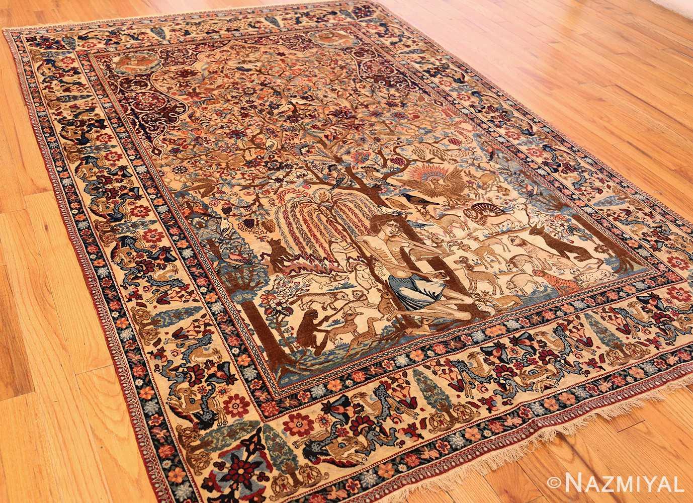 beautiful antique persian kerman rug by master aboul ghasem kermani 49006 darkside Nazmiyal