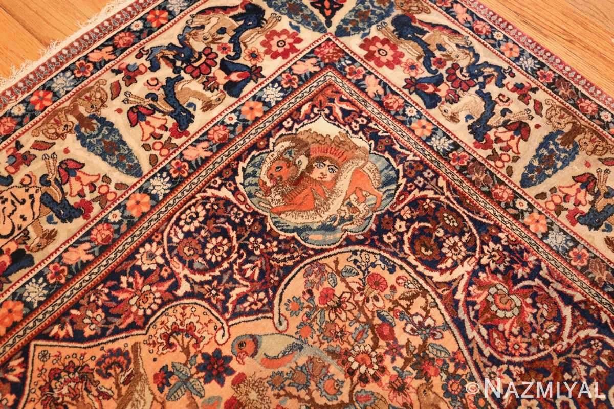 beautiful antique persian kerman rug by master aboul ghasem kermani 49006 design Nazmiyal