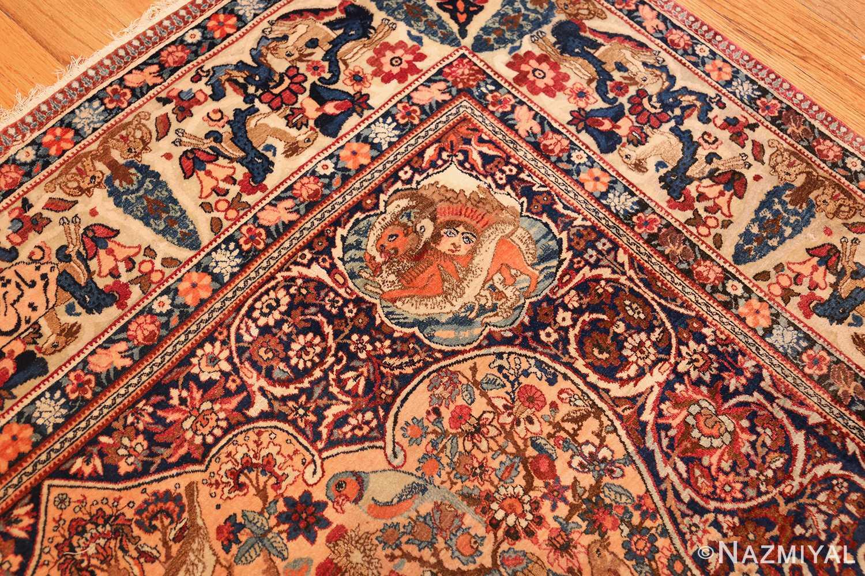 beautiful antique persian kerman rug by master aboul ghasem kermani 49006 design Nazmiyal