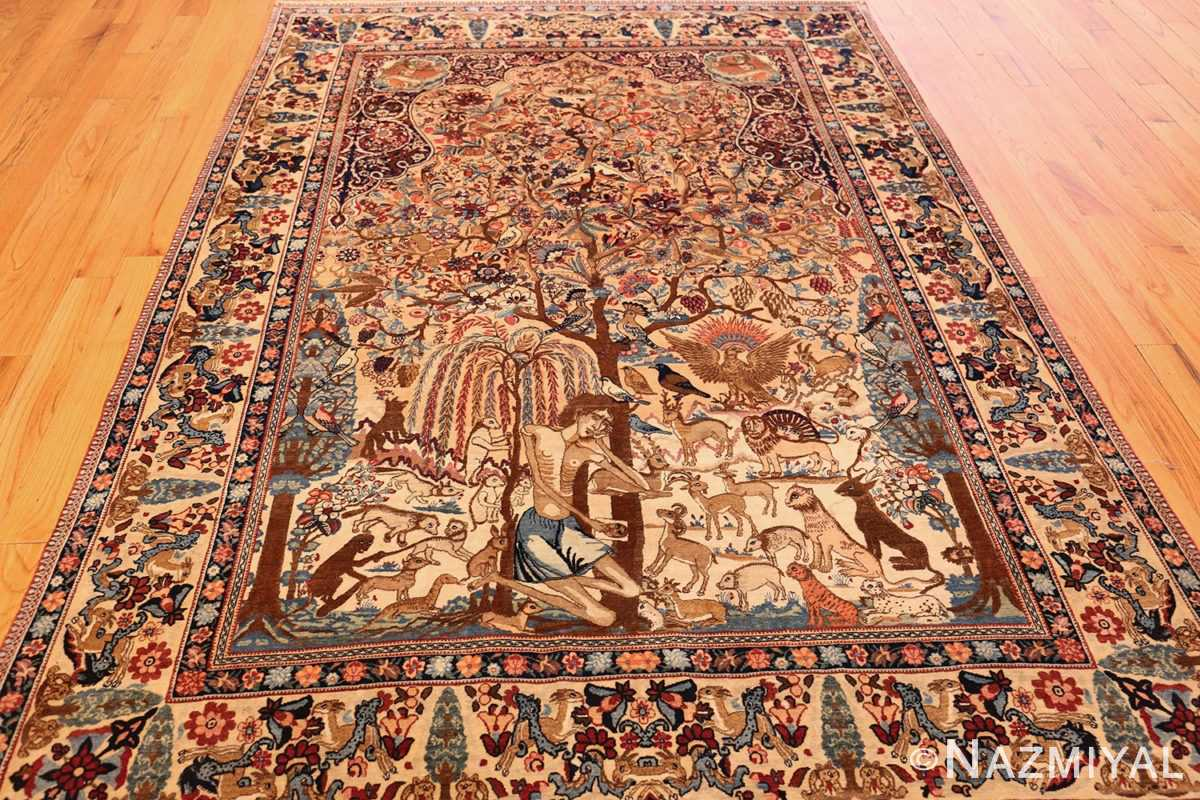 beautiful antique persian kerman rug by master aboul ghasem kermani 49006 full Nazmiyal
