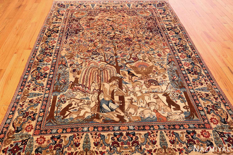 beautiful antique persian kerman rug by master aboul ghasem kermani 49006 full Nazmiyal