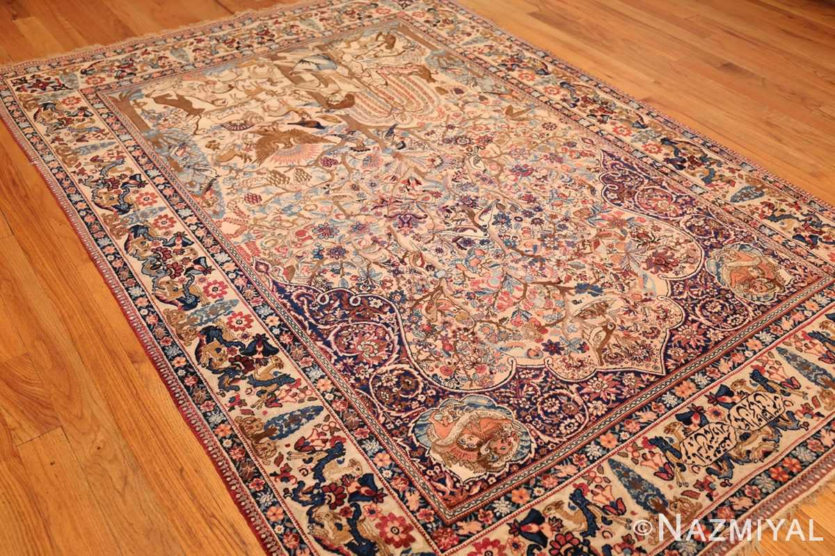 beautiful antique persian kerman rug by master aboul ghasem kermani 49006 lightside Nazmiyal