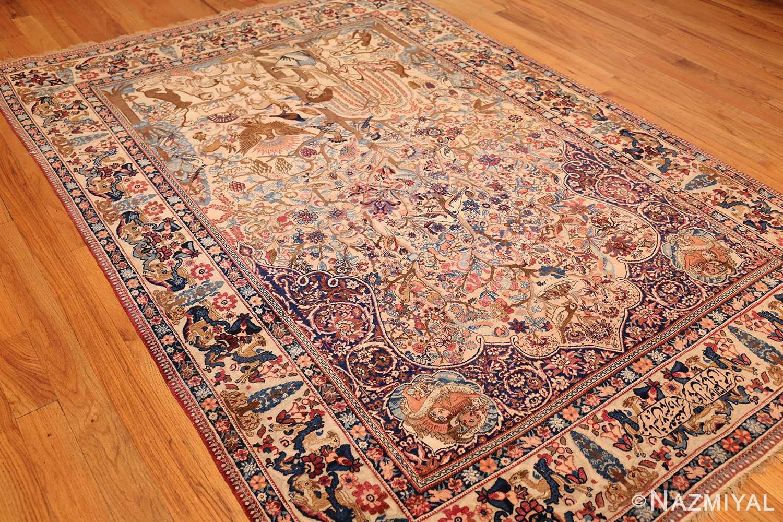 beautiful antique persian kerman rug by master aboul ghasem kermani 49006 lightside Nazmiyal
