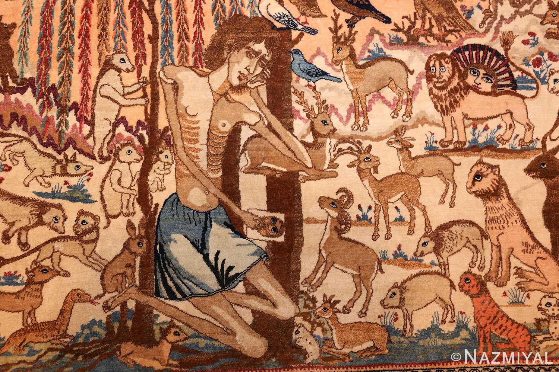 beautiful antique persian kerman rug by master aboul ghasem kermani 49006 majnoon Nazmiyal