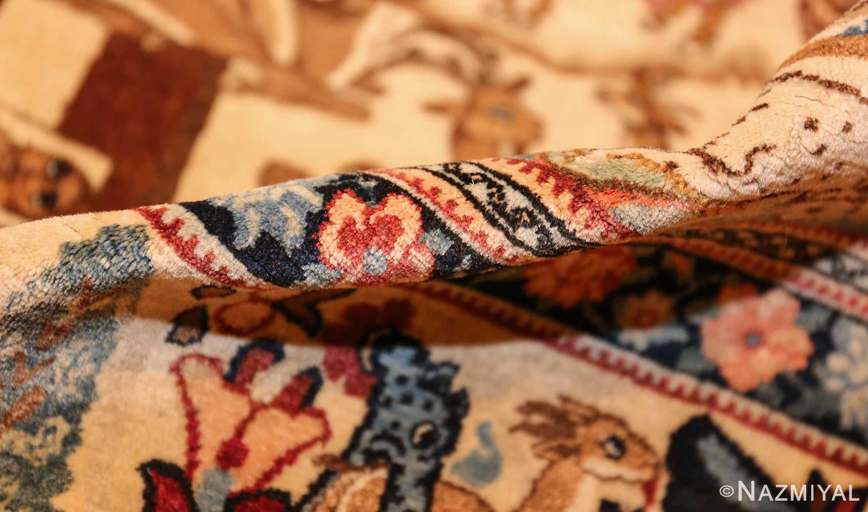 beautiful antique persian kerman rug by master aboul ghasem kermani 49006 pile Nazmiyal