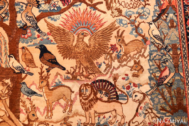 beautiful antique persian kerman rug by master aboul ghasem kermani 49006 simorgh Nazmiyal