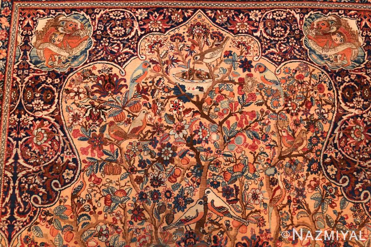 beautiful antique persian kerman rug by master aboul ghasem kermani 49006 top Nazmiyal
