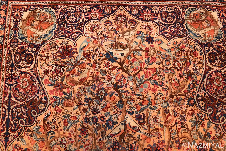 beautiful antique persian kerman rug by master aboul ghasem kermani 49006 top Nazmiyal