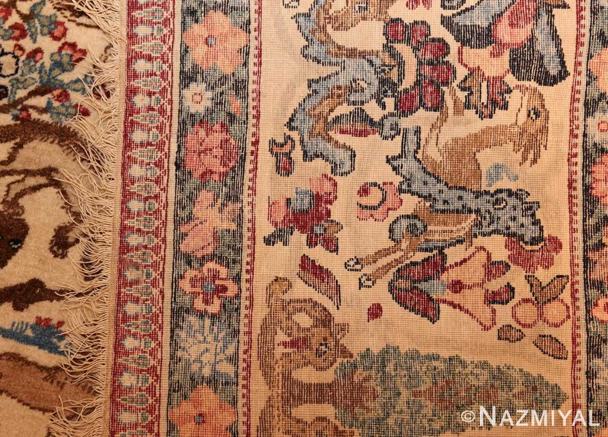 beautiful antique persian kerman rug by master aboul ghasem kermani 49006 weave Nazmiyal