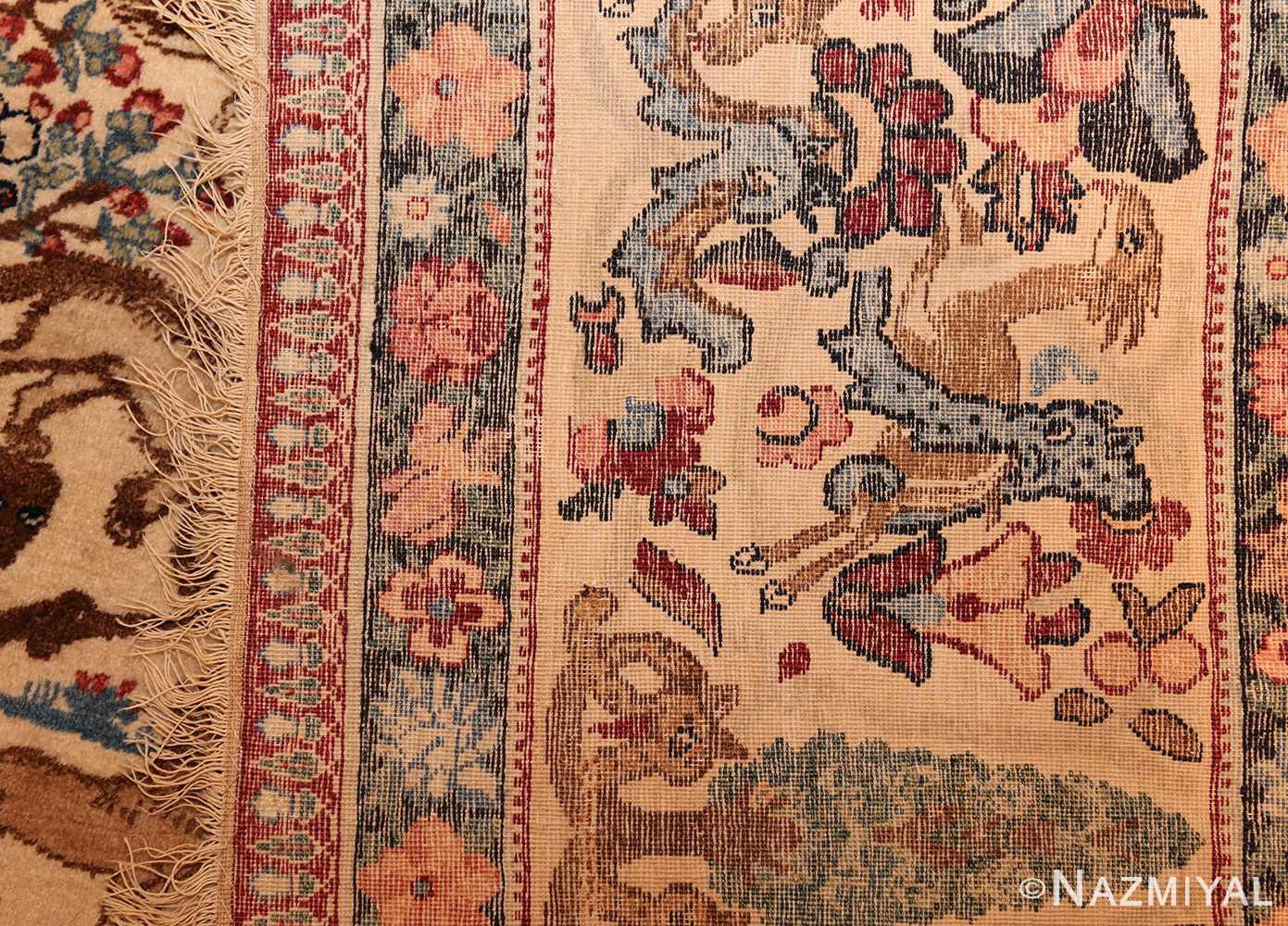 beautiful antique persian kerman rug by master aboul ghasem kermani 49006 weave Nazmiyal